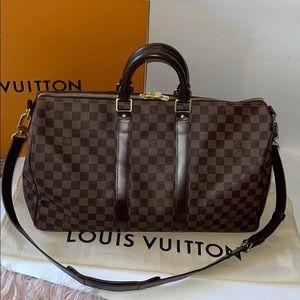 Authentic Louis Vuitton damier ebene keepall 45 B
